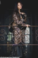 Black and Bronze Madam by CelesteOrchid