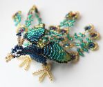 Peacock ( Beaded Animal) by Calyses