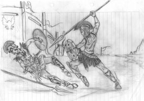 Aquiles vs Hector by DrizztHunter