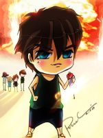 chibi.heero and fireworks by saikaistory