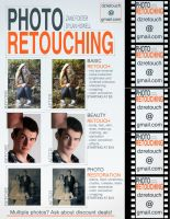 Photo Retouching Flyer by zanefoster