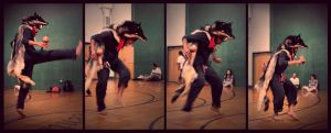 Native Dance with Teva the Wolf by NaturePunk