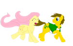 MLP Giftart- Scottler and Fluttershy by Officer-1BDI