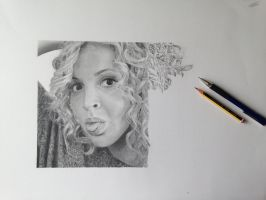 Self Portrait in Pencil stage 4 by S-Messias