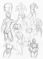 2 4 09 Female sketches by igm-transformer
