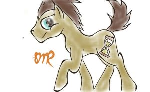 doctor whooves digital airbrushing by psycholiger13