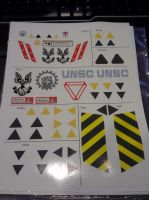 A sheet of Waterslide Halo Decals by Asgardianhammer