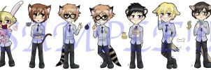 Ouran Bookmark Set by kojika