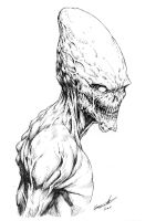 Conehead Alien by ClaytonBarton