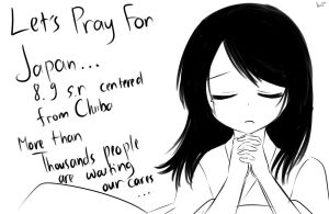 Let's pray for Japan by mikanxsakura