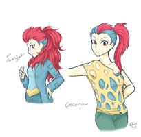 Human Croconaw and Feraligatr by firehorse6