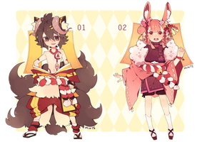 Adoptables: Lacynes Set 02 -OVER- by redricewine