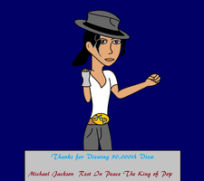 Michael Jackson 50,000th view by MasterghostUnlimited