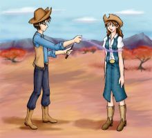 Harry Hermione western lasoo by liz-usa
