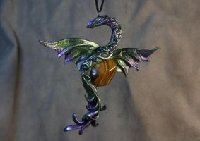 Octarine Dragon pendant by kessan