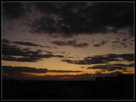 Evening sky in autumn by bwanot