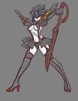 Ryuko break sketch by Master-sweez