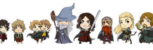 LOTR: Grey Fellowship by momofukuu