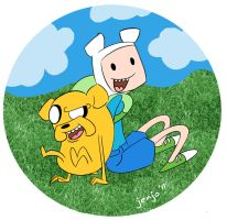 finn and jake rock by MissKeith