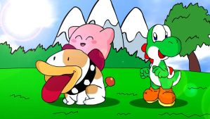 Kirby's Great Day on Yoshi Island by KingAsylus91