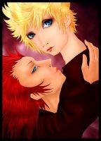 Axel and Roxas by Sonen89