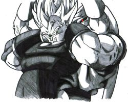 vegeta vs buu by trunks24