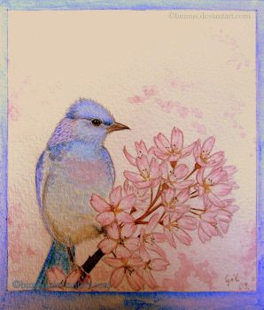 Blue Bird...- Binnus by childrensillustrator