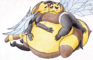 Very Chubby bee love by SamuraiKnight