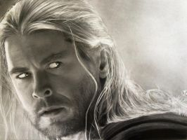 THOR realistic drawing by Ana Antunes by analuizantunes