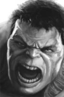 HULK FACE SCKETCH by galindoart