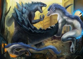 Clash of the Titans by Silverbirch