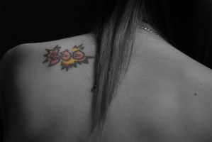 Selective Colour Tattoo by CharlotteSilver