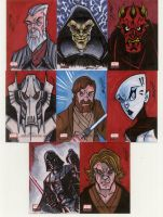 star wars galaxies 4 cards G1 by natelovett