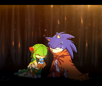 AT: Cosmo and Sonic. by Cheroy