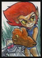 Lil Lion-O Sketchcard by lordmesa