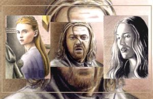 Game of Thrones sketchcards by whu-wei