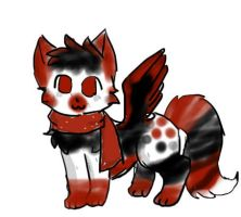 Winged Scarf kitty adopt (open) by Bespattered94