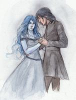 Snape and Meira by Eliathanis