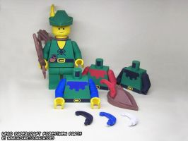 Papercraft LEGO Castle Forestmen minifigs by ninjatoespapercraft