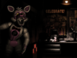 DAY 4 - Funtime Foxy in FNAF 1 by SpringlesSprangles