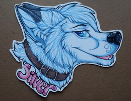 Silverheart headshot badge commission by nightspiritwing