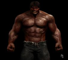 RED HULK by DeviantMAN523