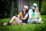 Touko and N : Ferriswheel shipping - Pokemon B/W by Rael-chan89