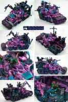 Pink Flame Ork Battlewagon by Atropos907