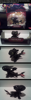 Toothless Figurine I got in the mail e u e by UmbraOwl