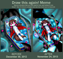 Vampire Blush- Meme: Before and After by Kiddysa-NekoVamp