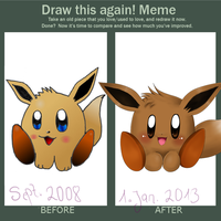 lazy draw this again meme by Evomanaphy