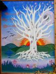 tree of life mural by lauraborealisis