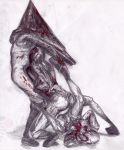 097 - Pyramid Head and Lying Figures 2 by Dalicris