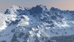 Snowy Minecraft Mountain + World Save by Lil-Lintu